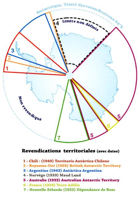 Les revendications de l'Antarctique-1960